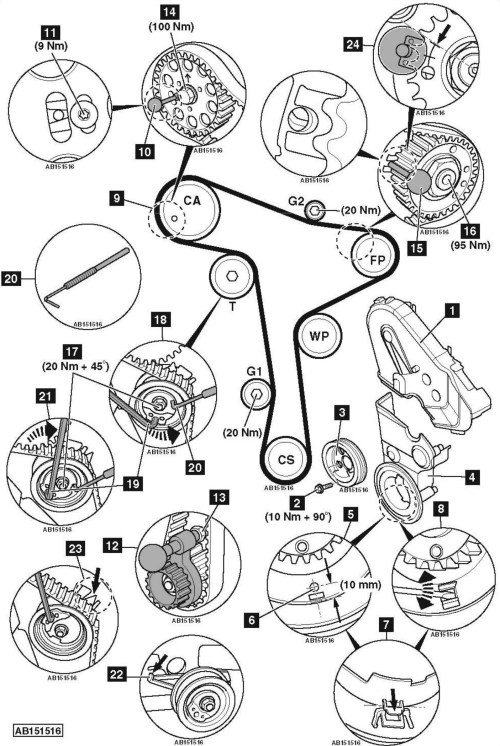 small resolution of how to replace timing belt on volkswagen golf vii 2 0tdi 2013