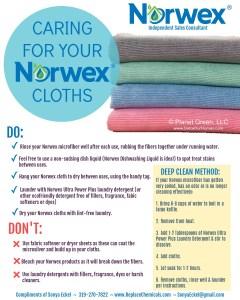 Norwex Washing Instructions