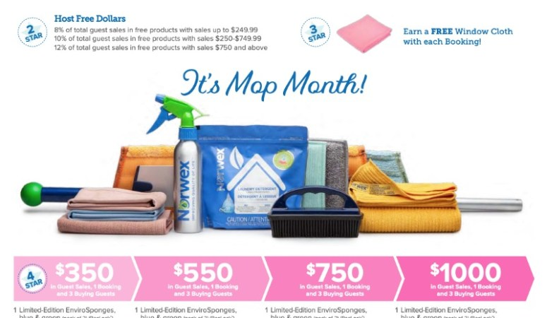 NORWEX MOP MONTH HOSTING SPECIALS IN APRIL 2019!!!
