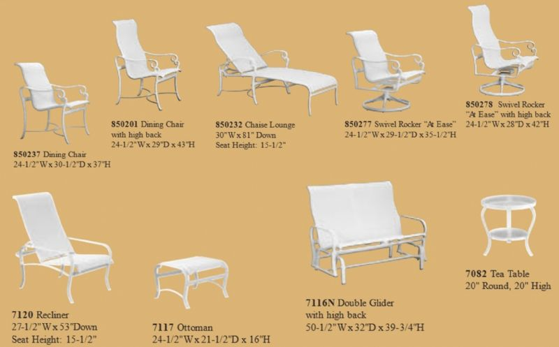 sling chaise lounge chair covers party supplies tropitone replacement cushions - lautrec (d) collection