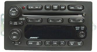 2004 Cadillac Radio Wiring Diagram Trailblazer Envoy 2005 2006 Cd6 Xm Ready Bose Radio