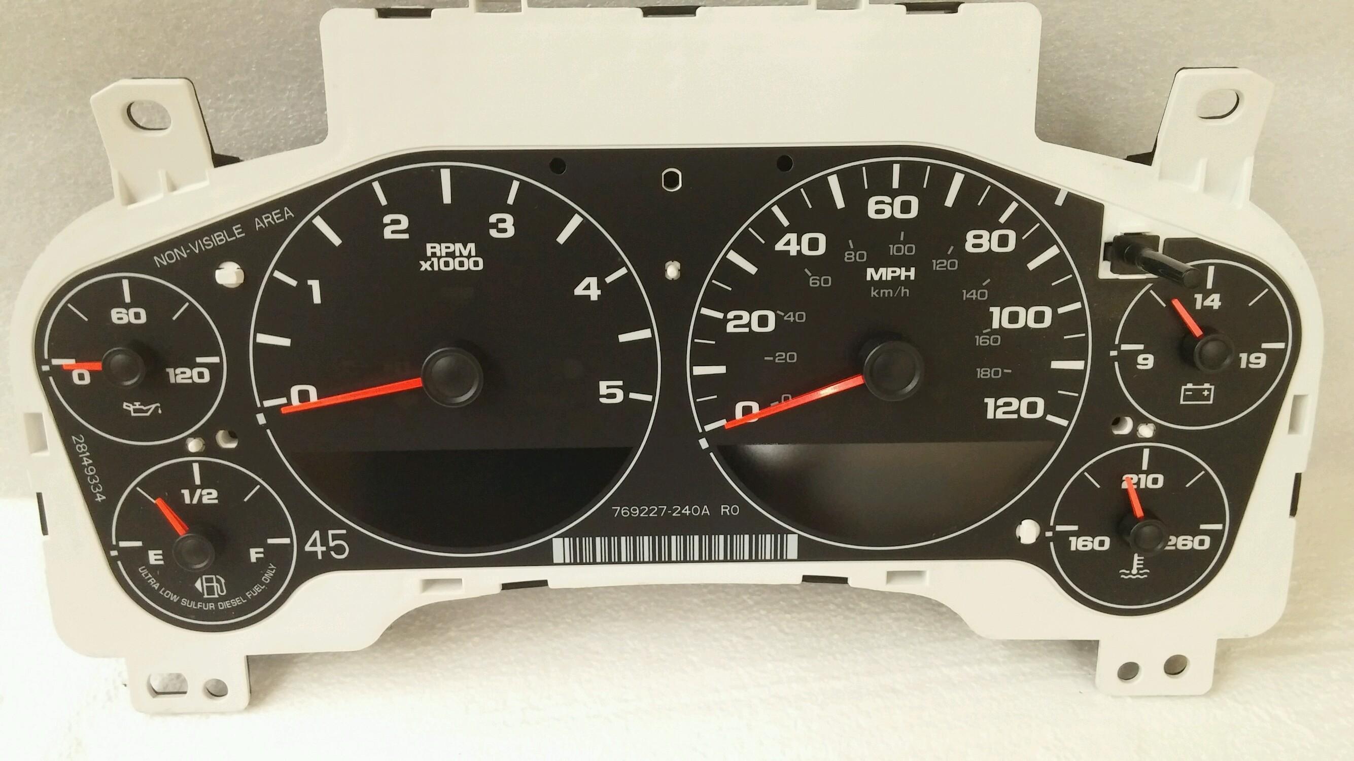 GM instrument gauge cluster diesel V8 20848058 22834146
