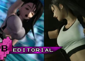 Tifa Lockhart original FFVII (left) and from FFVII Remake (right)
