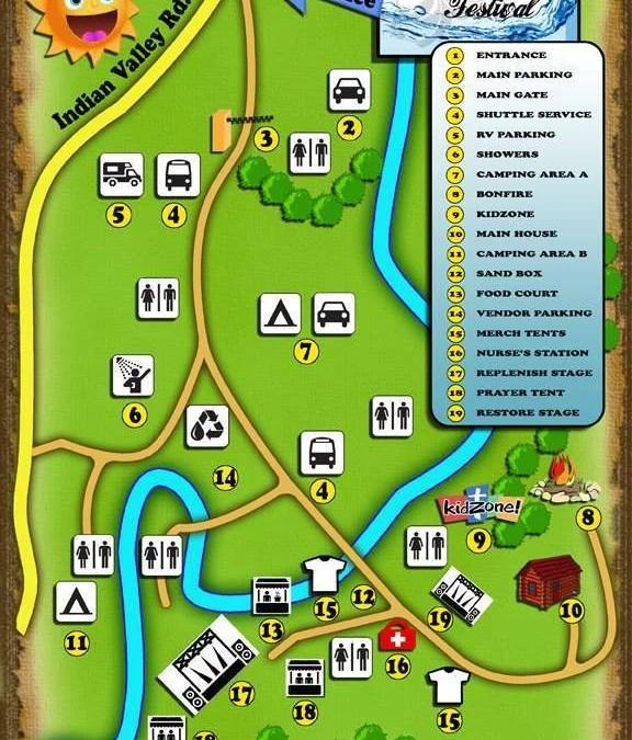 2016 Replenish Festival Map