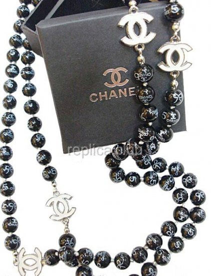 Chanel Replica Jewelry : chanel, replica, jewelry, Chanel, Black, Pearl, Necklace, Replica, Products, Online, Club,, Replica.CLUB