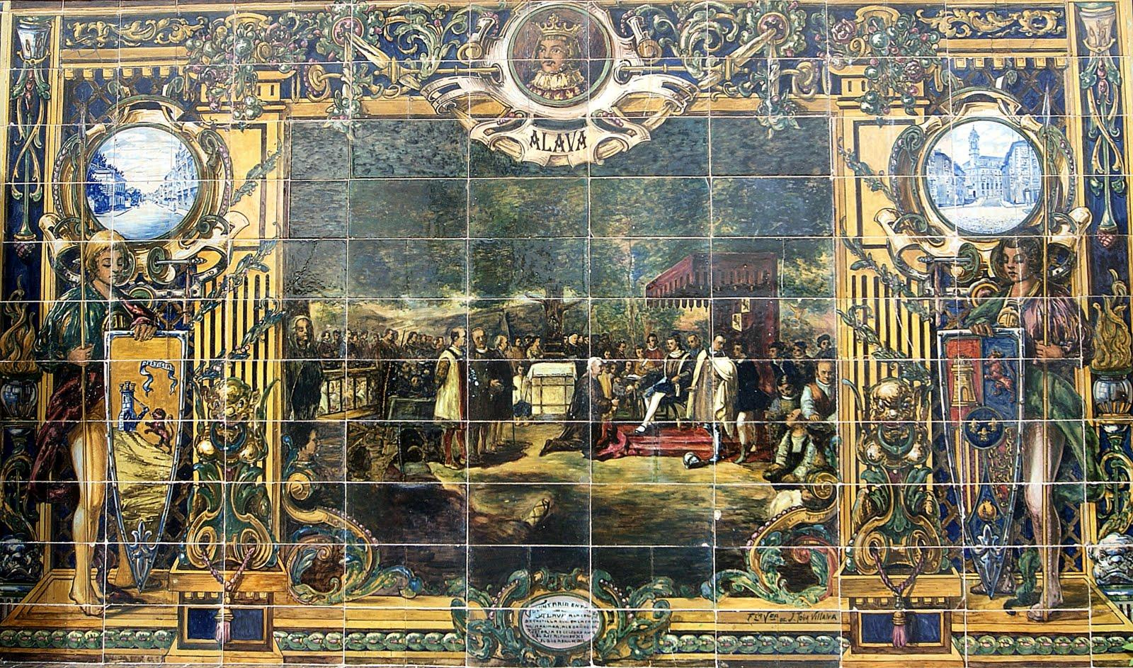 Azulejos de la Plaza Espaa de Sevilla II  Revestimientos