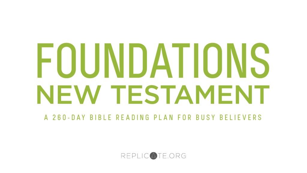 F260 New Testament Bible Reading Plan - Replicate Ministries