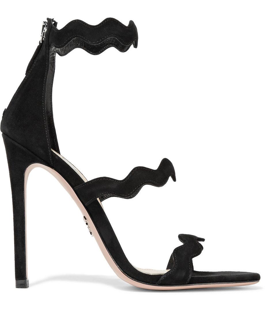 Prada scalloped sandals