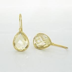 Heavenly Necklaces citrine gold teardrops earrings