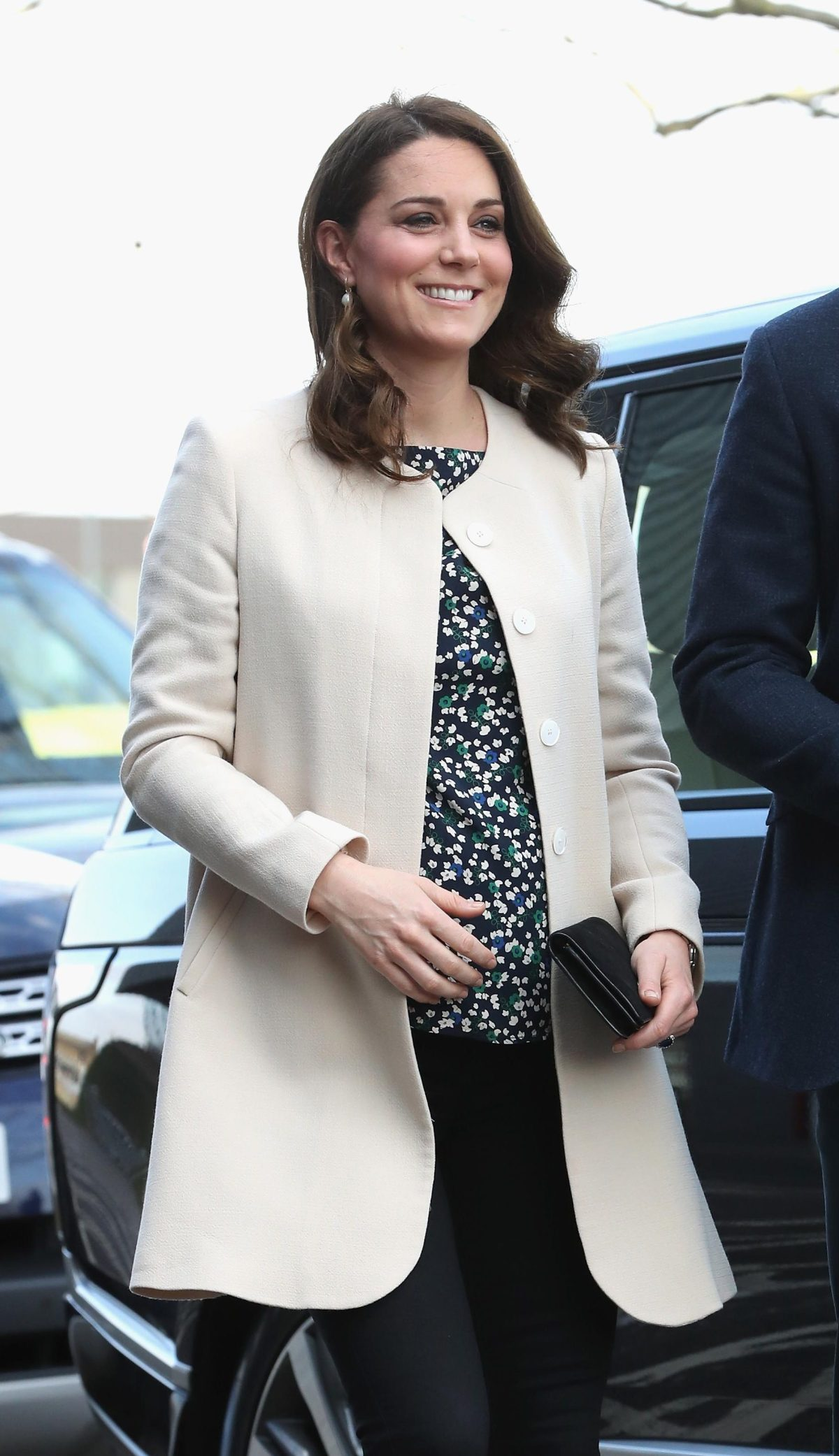 Duchess Kate wears the Redgrave coat from Goat i-images/pool)