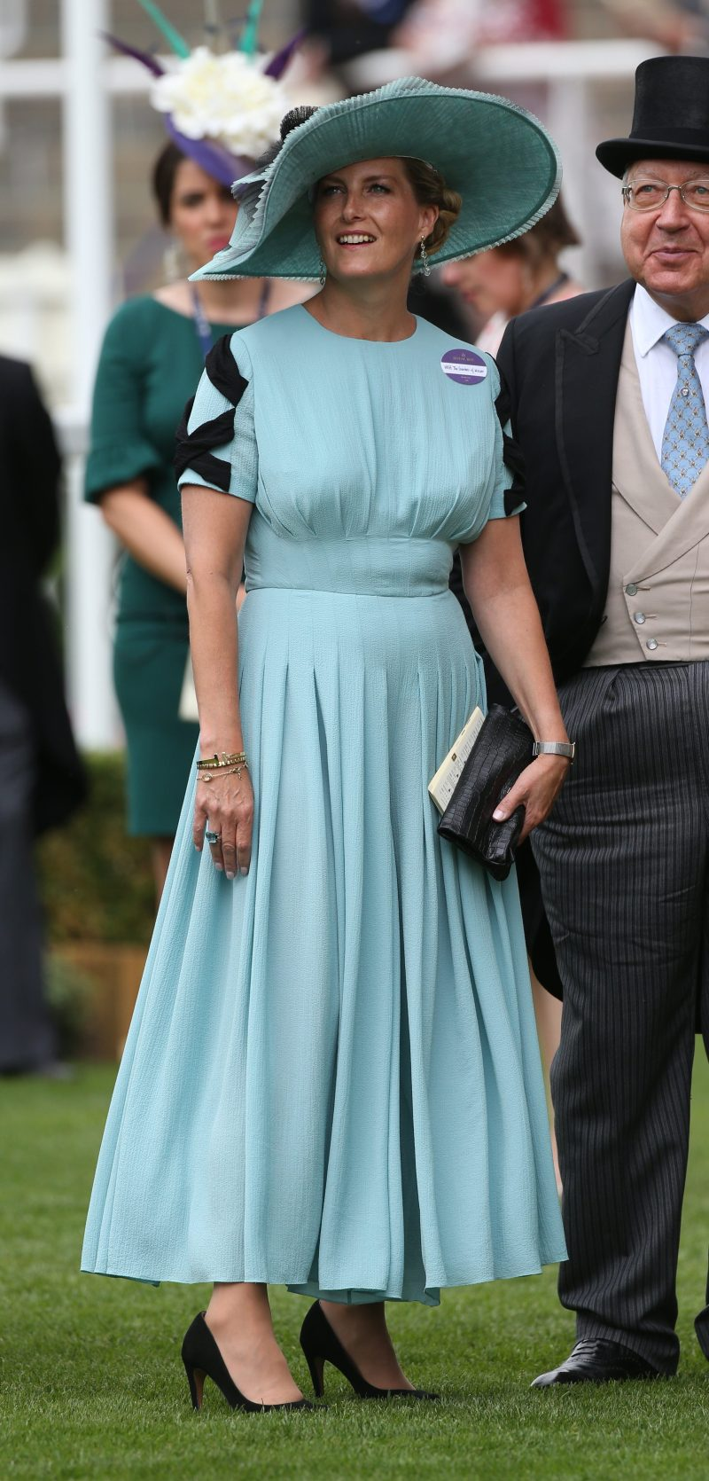 Countess of Wessex in pale blue Emilia Wickstead jumpsuit for Royal Ascot day 2 - Replicate Royalty