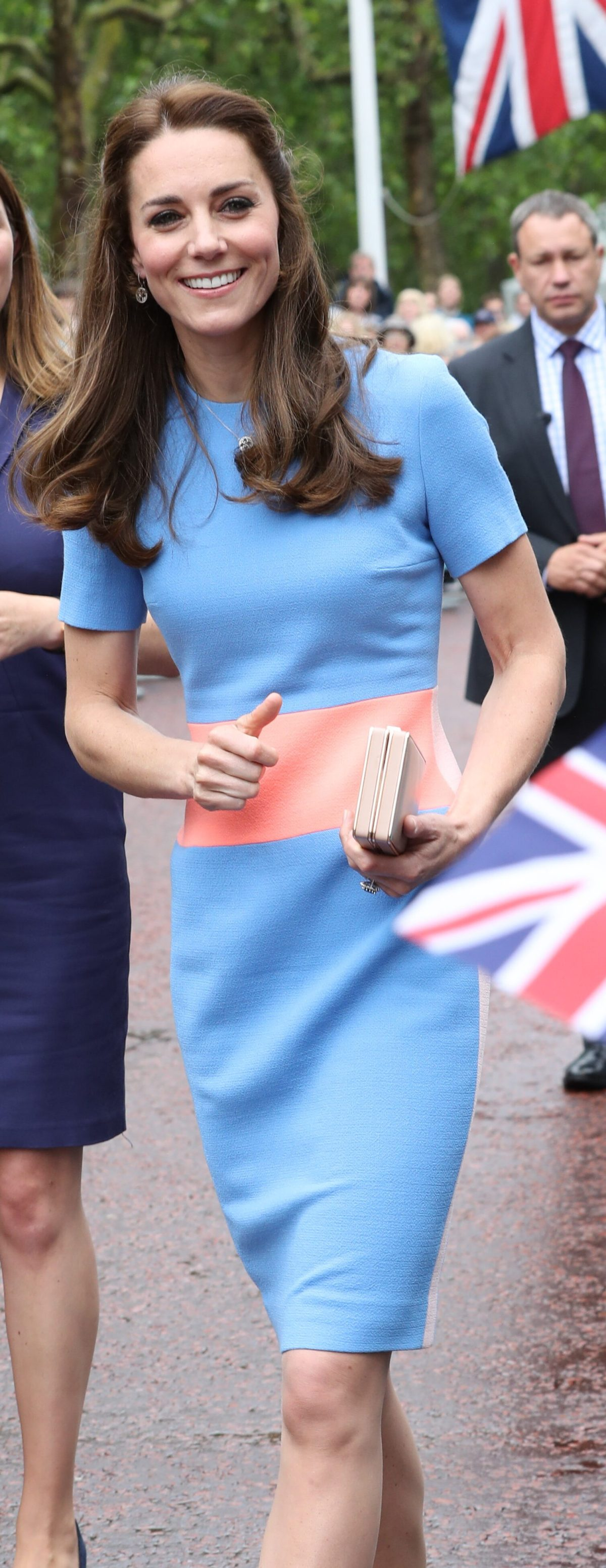 Image licensed to i-Images Picture Agency. 12/06/2016. London, United Kingdom. The Duke and Duchess of Cambridge  at The Patron's lunch on The Mall in London, at the end of three days of events to mark Her Majesty's 90th birthday.  Picture by Stephen Lock / i-Images