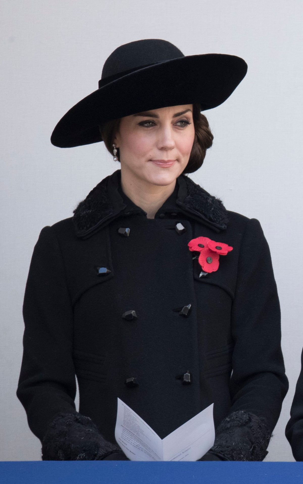 Image licensed to i-Images Picture Agency. 13/11/2016. London, United Kingdom. Duchess of Cambridge, Duchess of Cornwall and Countess of Wessex  at the Remembrance Sunday service at The Cenotaph in London  Picture by Stephen Lock / i-Images