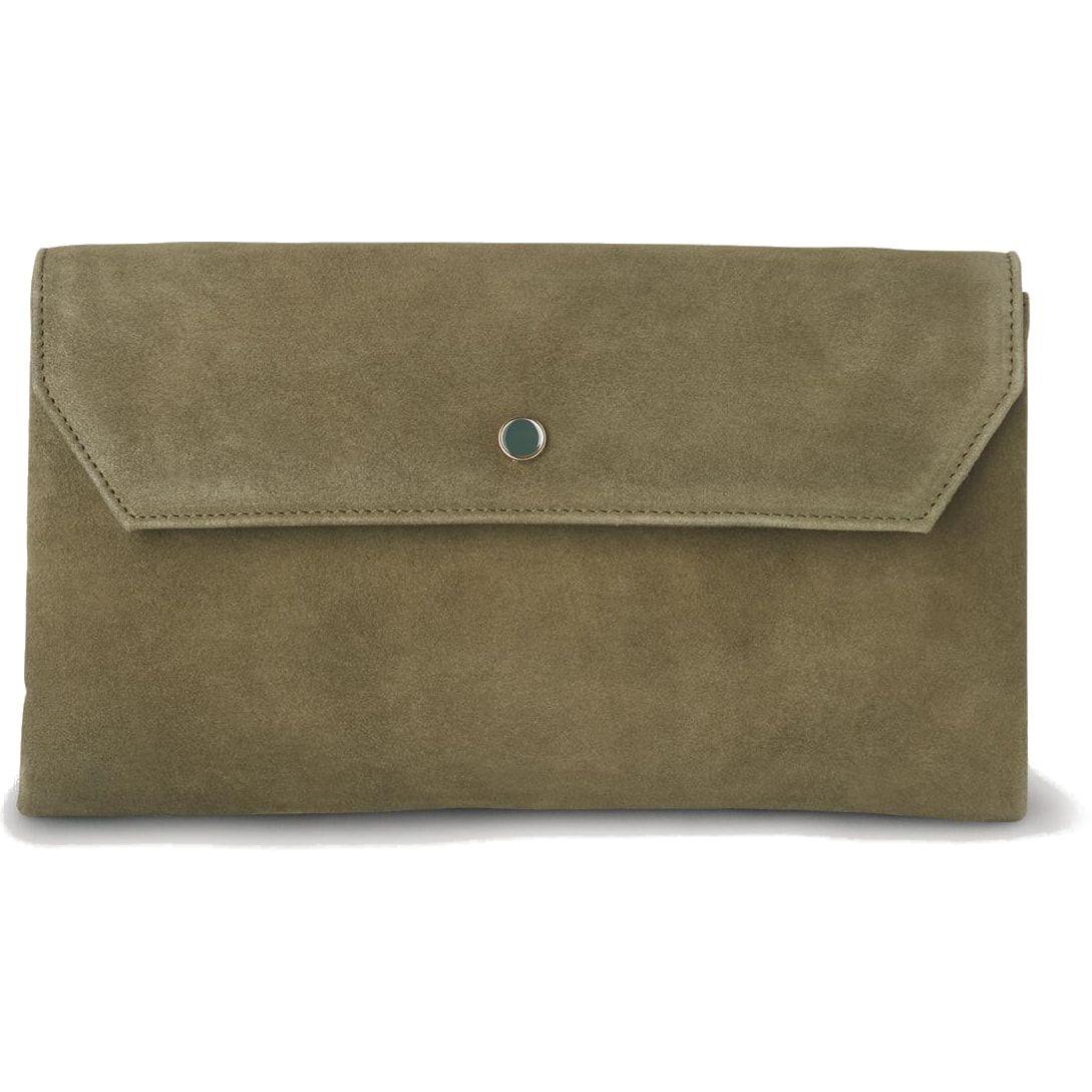 LK Bennett olive 'Dora' clutch