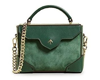 Manu Atelier green 'Micro Bold' bag