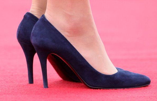 McQueen navy heels