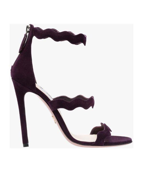 Prada scalloped purple sandal