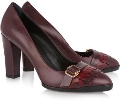 Tod's fringed heels