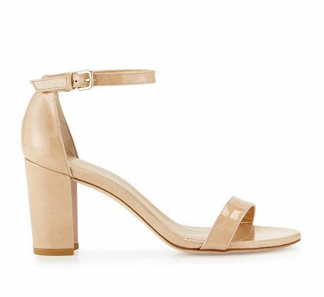 Stuart Weitzman 'NearlyNude' patent city sandals