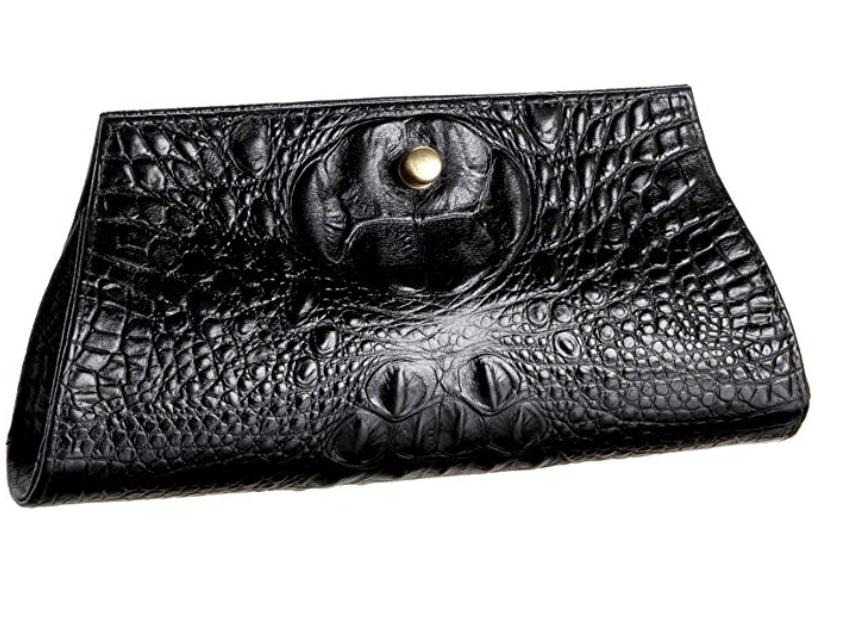 JALDA croc 'Katherine' clutch