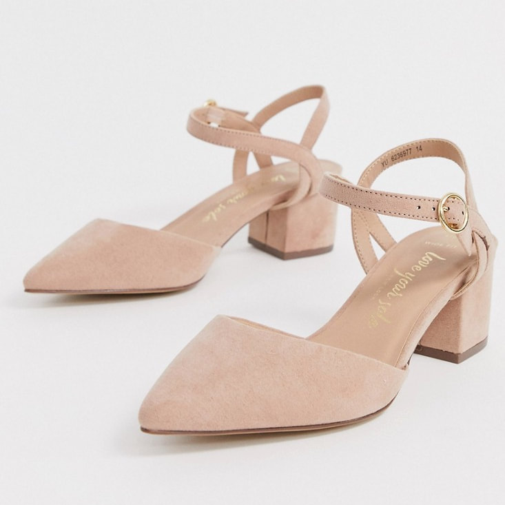 New Look wide-fit taupe block sandal