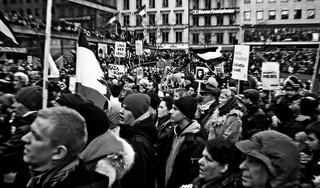 Demonstration in Stockholm