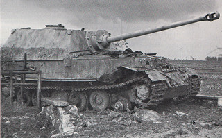 German Tiger Tank after hitting a mine