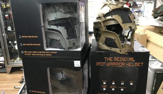Medieval製 Iron Warriorタイプ ヘルメットが入荷。