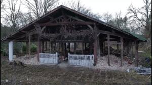 La maison en cours de rénovation