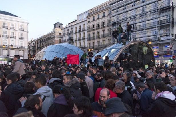 Du 15M au 22M, la place Puerta del Sol.