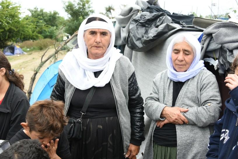 Famille syrienne espérant passer la frontière serbo-hongroise