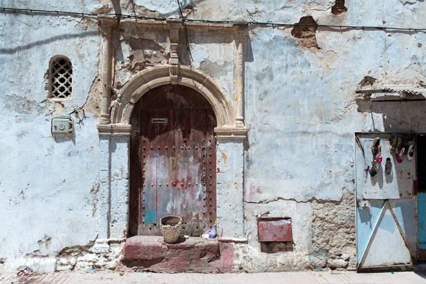 Porte d'une vieille maison de la médina de Rabat