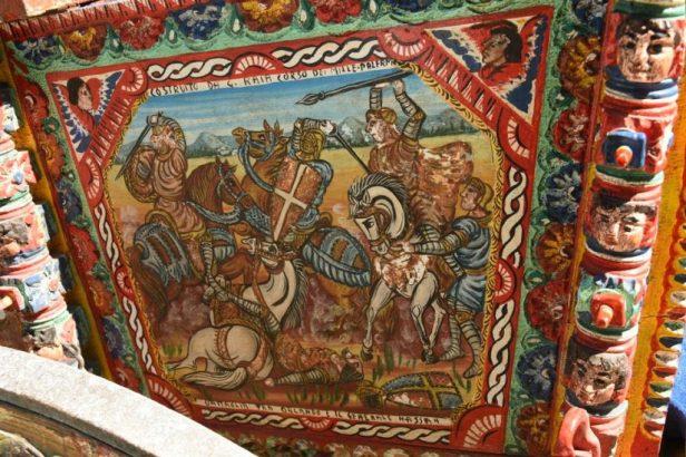 """Détail de la charrette, mentionnant la """"bataille"""" de Palerme"""