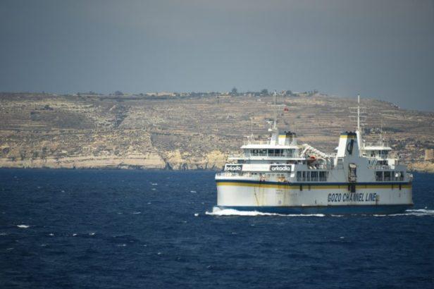 Le ferry reliant l'île de Gozo à la grande île de Malte