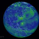 現在・未来の台風・気象情報を映像化…スクリーンセーバー?へ!