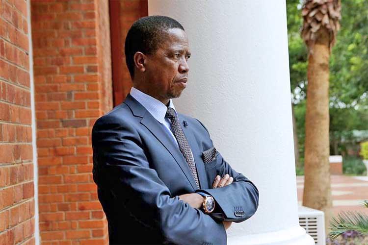 Edgar Lungu of Zambia as UK freeze aid