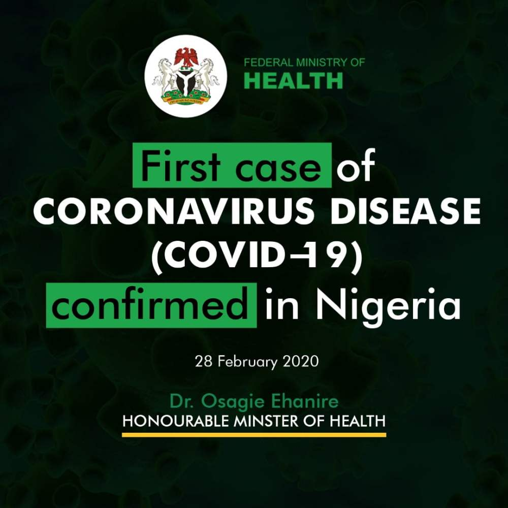 Nigeria records first case of coronavirus