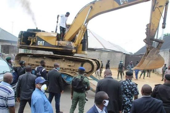 Covid-19: Wike Demolishes Two Hotels For Flouting Executive Orders