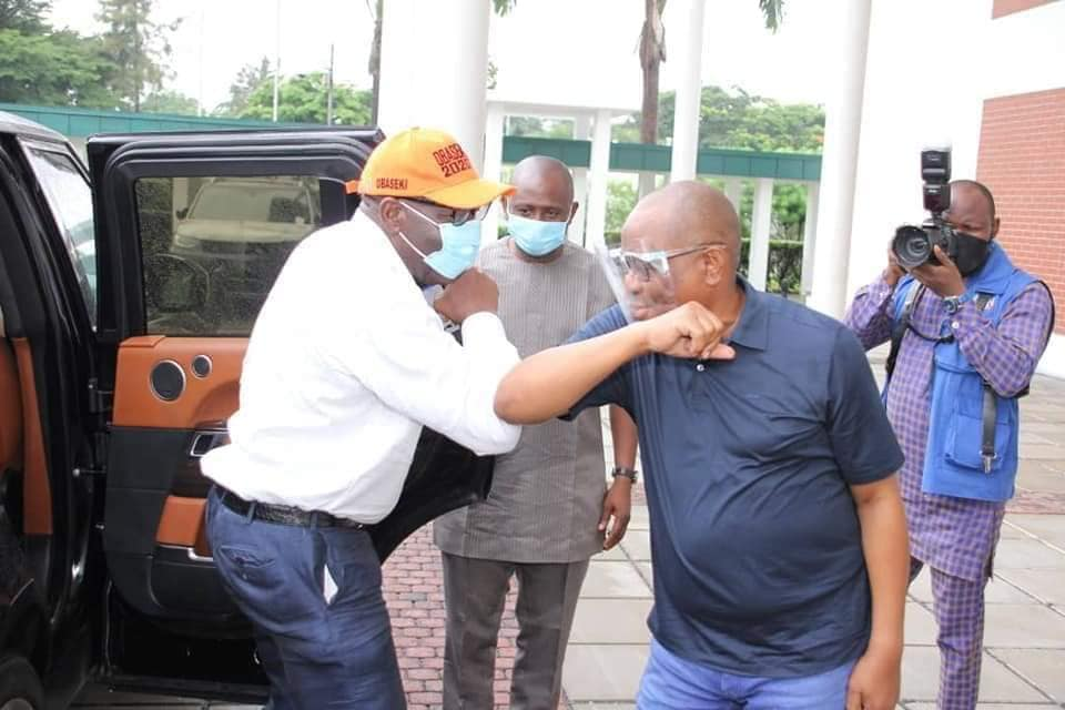 PHOTOS: Obaseki Visits Wike In Rivers State