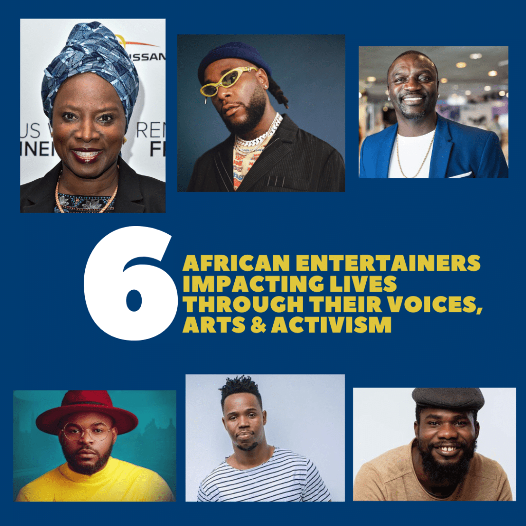 African entertainers shaping opinion with their voices and arts