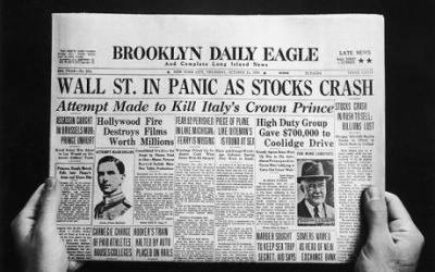 titre journal - crise de 1929 - krach de 29 - effondrement economique -3