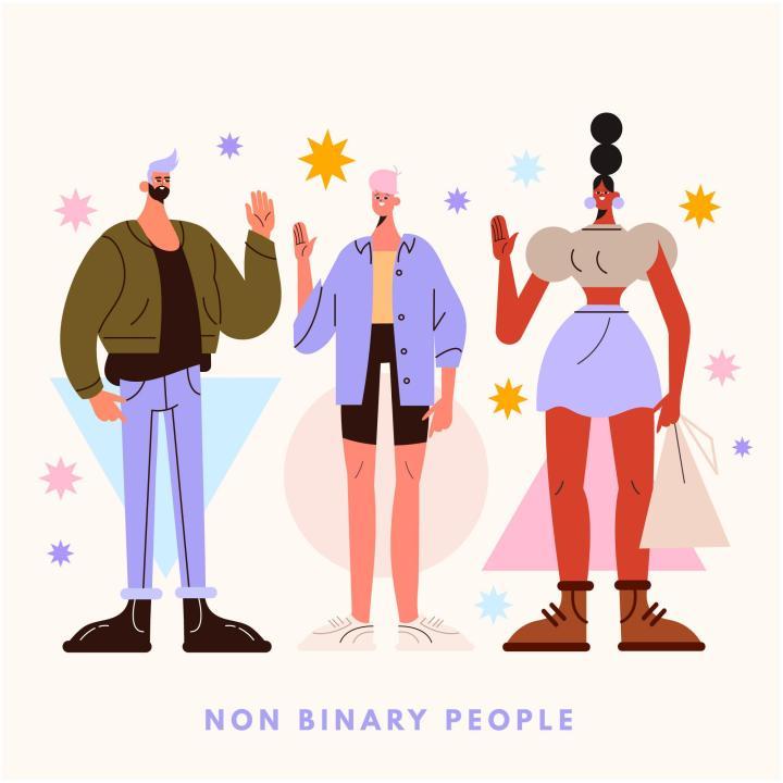 Personas no binarias. Imagen Reportar sin Miedo.