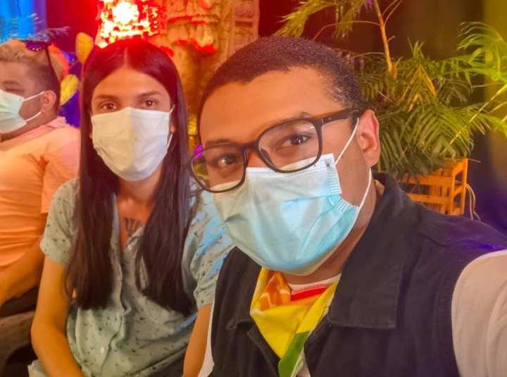 Los activistas LGBTIQ+ Osman Lara y Javier R. Carrington.