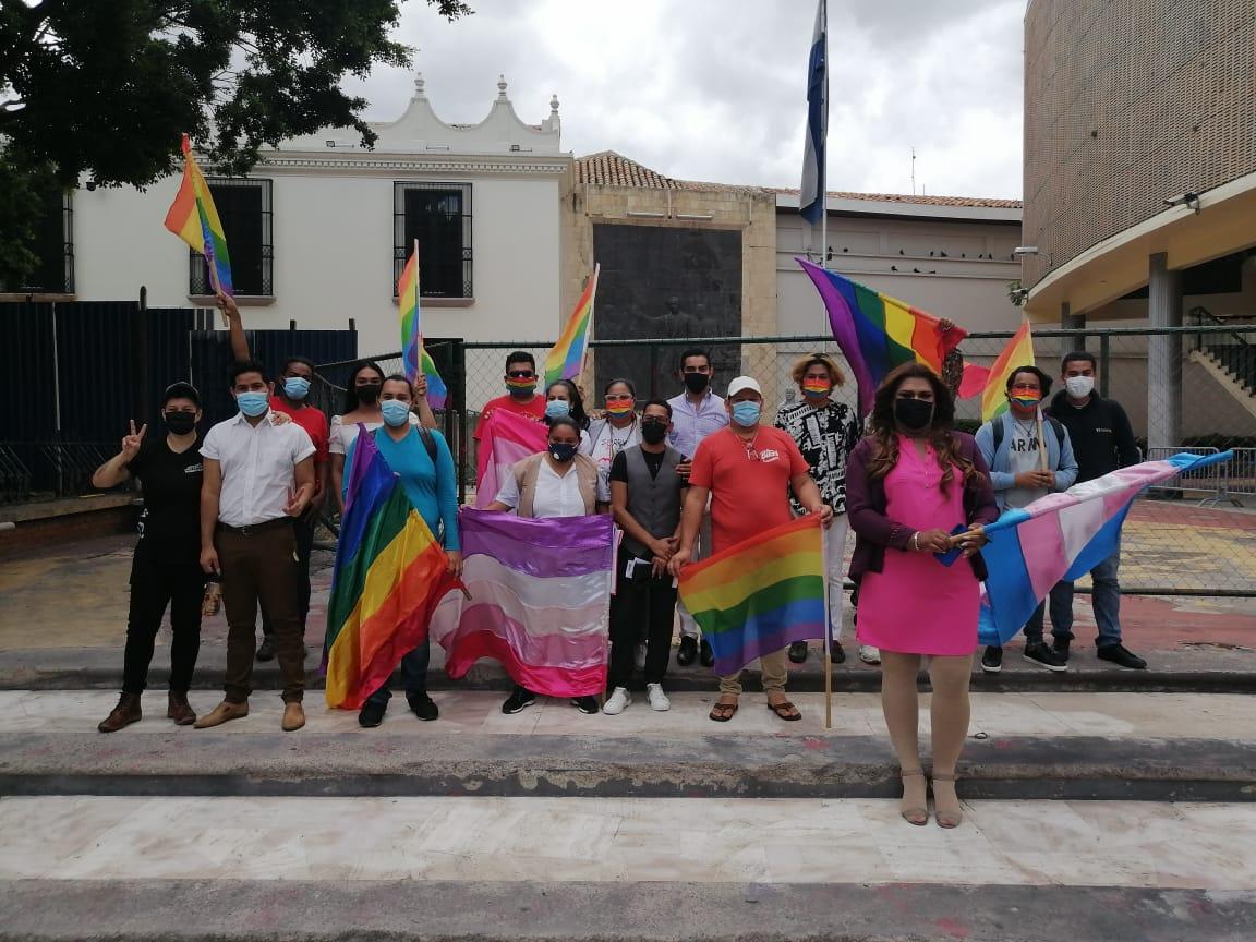 La manifestación en los bajos del Congreso Nacional de Honduras.