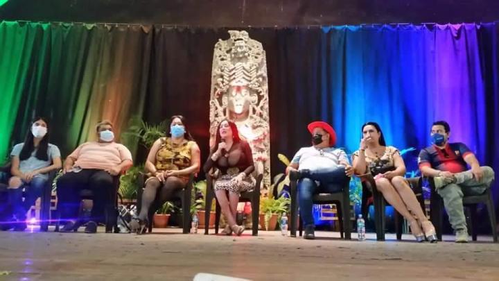 Líderes LGBTIQ+ del norte de Honduras.