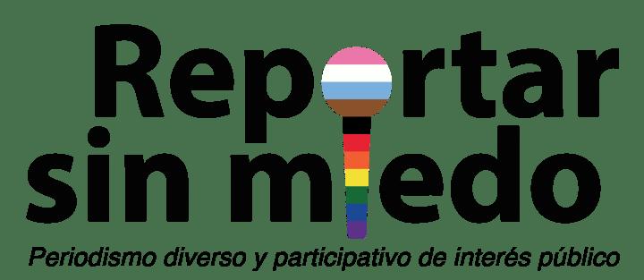 Logo de Reportar Sin Miedo de forma inclusiva. Junio 2021
