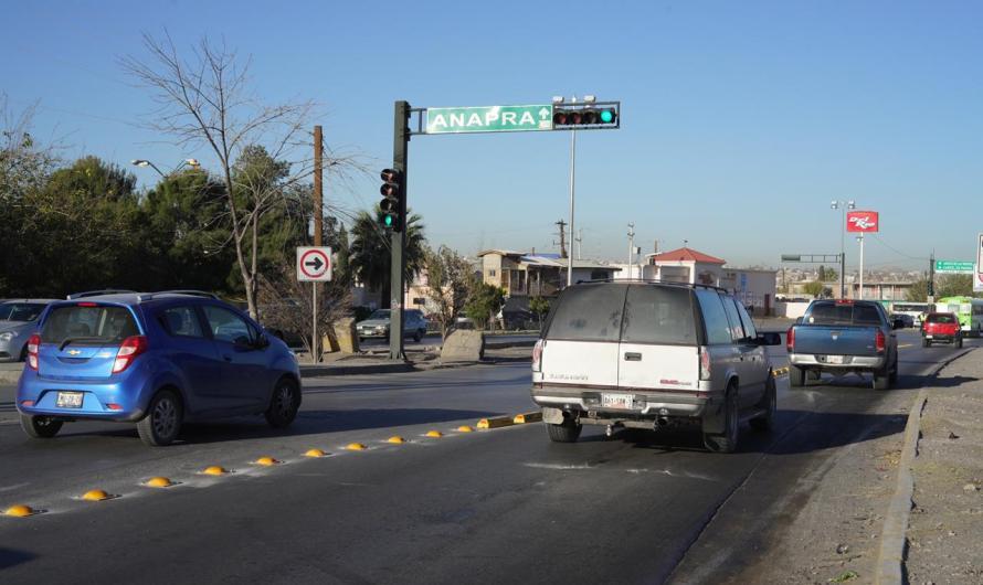 Seguridad Vial, crea carril de flujo continuo sobre Bernardo Norzagaray