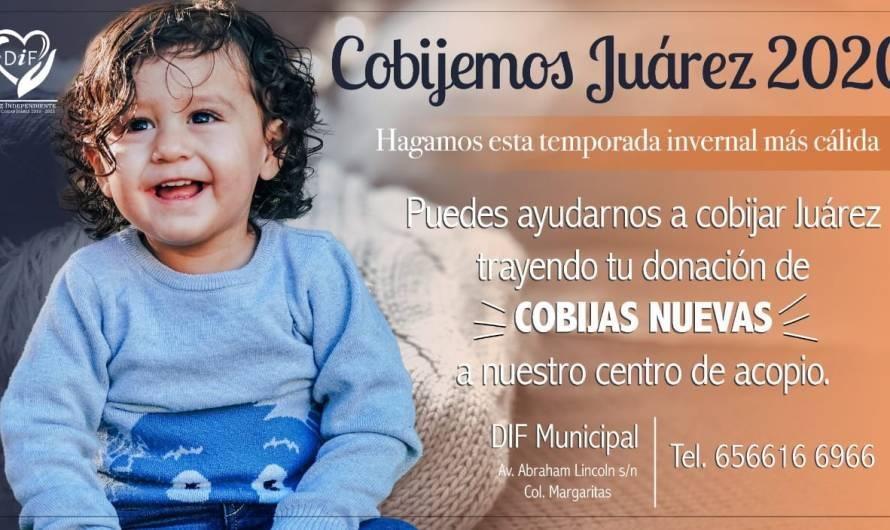 Continúa 'Cobijemos Juárez 2020' campaña del DIF Municipal