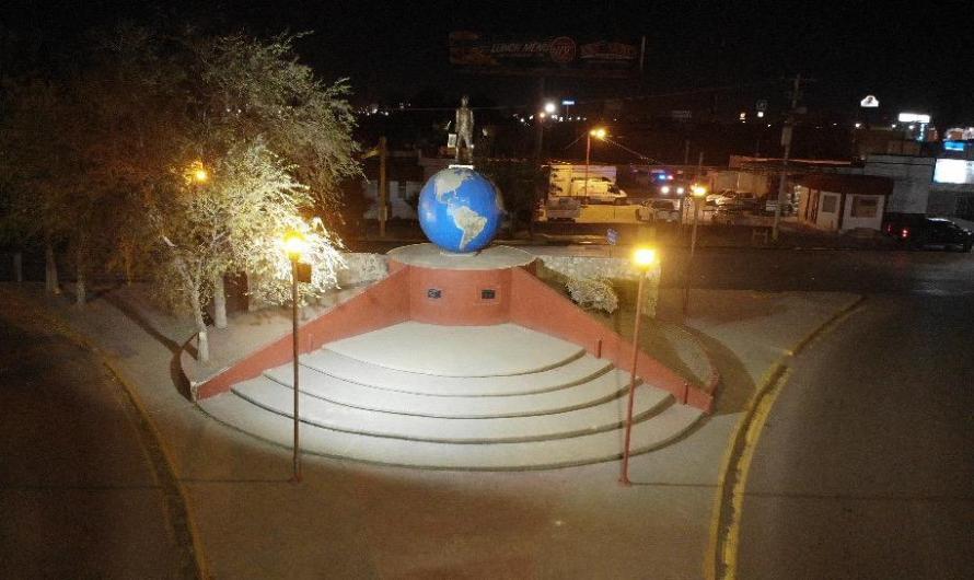 Monumento 'El Migrante Árabe' es rehabilitado por el Municipio de Juárez