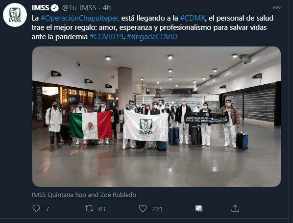 MÉXICO: #OperaciónChapultepec llamado de solidaridad con personal médico